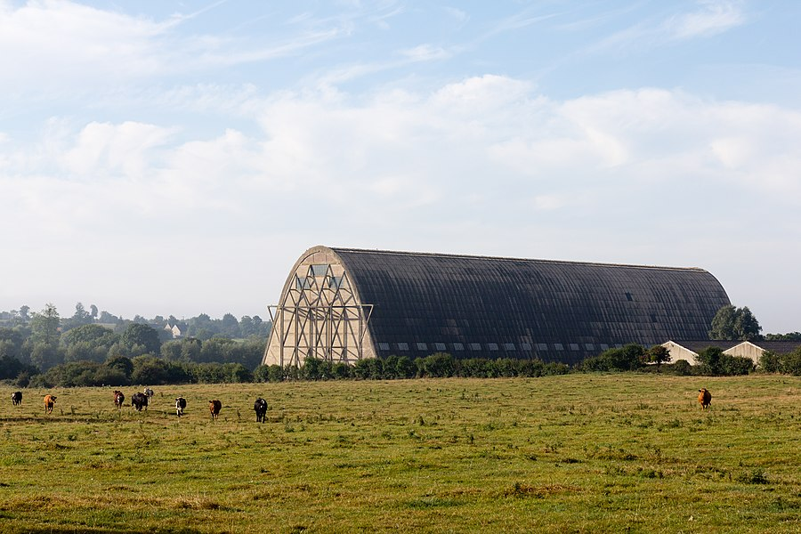 English:  Airships hangar in Écausseville (Manche, France).