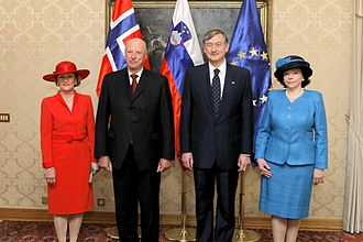 Danilo Türk - Danilo Türk and his wife Barbara with King Harald V and Queen Sonja of Norway in 2011
