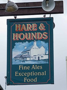 Hare and Hounds pub sign - geograph.org.uk - 948122