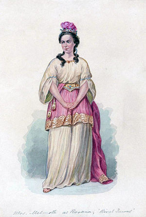 "Charlotte Melmoth - Mrs Charlotte Melmoth as 'Roxana' in ""The Rival Queens"""