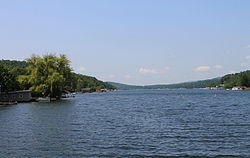 Harveys Lake from the northeast