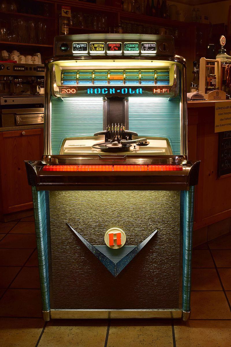 Un juke-box de marque Rock-Ola.   (définition réelle 3618×5427)