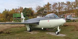 Anti-shock body - Anti-shock body on the tail of a Hawker Sea Hawk
