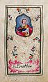 Heiligenbildchen Heilige Dorothea Klosterarbeit.jpg