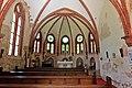 Heiligendamm, die denkmalgeschützte Waldkirche, der Innenraum verfällt.JPG