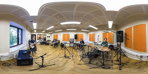 360° view on the sound recording studio of the Heino Eller Music College