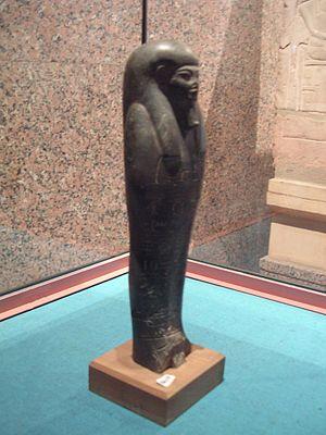 Heqanefer - Ushabti of Heqanefer exhibited at the Nubian Museum of Aswan