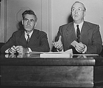 Supply Priorities and Allocation Board - Henry A. Wallace, Chairman, and Donald M. Nelson, Executive Director, of SPAB after its first meeting