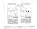 Henry L. Russell House, Route 6, West Grove Township, Bloomfield, Davis County, IA HABS IOWA,26-BLOFI,1- (sheet 1 of 3).png