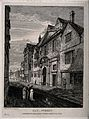 Hertford College, Oxford. Etching by J. Whessall after himse Wellcome V0014114.jpg