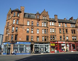 High Street, Glasgow - Victorian tenements near the northern end of the street