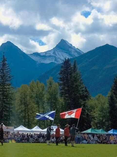 Highland Games-Opening ceremonies in Canmore