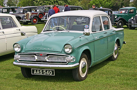 "Hillman Minx Series IIIC. The ""Audax"" Minx (Series I to VI) was designed by Raymond Loewy. Hillman Minx Series IIIC.jpg"
