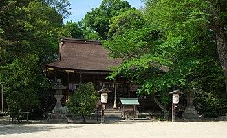 Hirose Shrine - Haiden, or the prayer hall