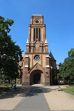 Holy Spirit Church in Kassai square, Budapest 01.JPG