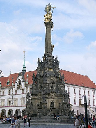 "Holy Trinity Column in Olomouc - ""To the glory of God the Almighty, the Virgin Mary and the saints I will build a column that in its height and splendour will be unrivalled in any other town."" From Wenzel Render's letter to the Olomouc City Council."