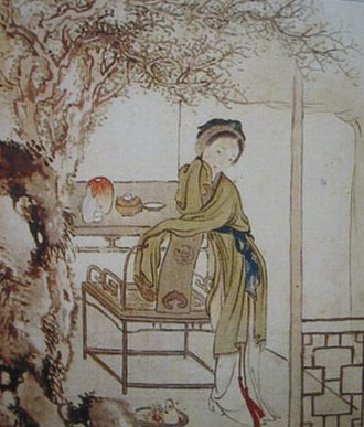 Dream of the Red Chamber - A scene from the novel, painted by Xu Baozhuan (1810–1873)