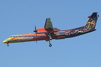 East Wenatchee, Washington - Horizon Air Dash 8 Q-400 landing at Pangborn Airport