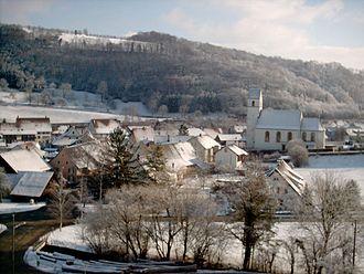 Hornussen, Aargau - Image: Hornussen AG winter