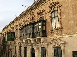 Maltese Baroque architecture - Hostel de Verdelin, a mid-17th century example of Spanish Baroque architecture in Malta