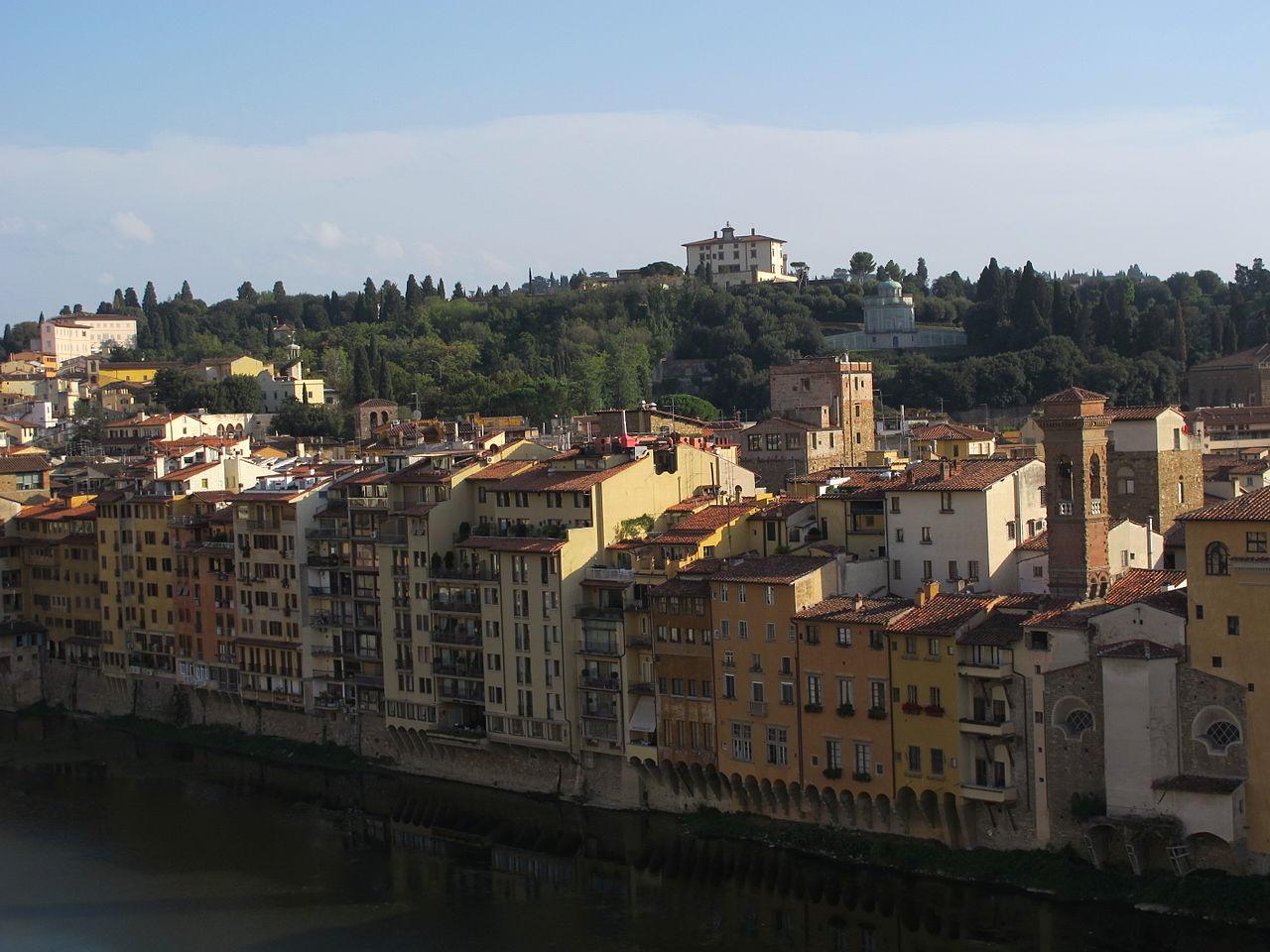 Firenze, veduta Borgo San Jacopo, Kaffeehaus (Giardino di Boboli) e Forte Belvedere