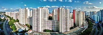West Region, Singapore - Image: Housing and Development Board flats in Bukit Panjang, Singapore 20130131 (single row panorama)