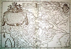 History of Croatia - Old map of Croatia in the 17th century