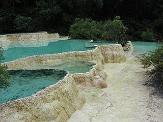 The limestone basins at Huanglong