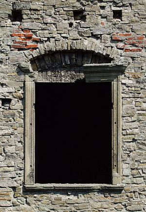 Window in Hukvaldy castle