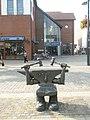 Humorous sculpture in Fareham town centre - geograph.org.uk - 1504947.jpg
