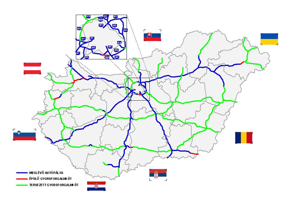 Hungary Motorways 01.2013
