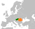 Hungary Romania Locator.png