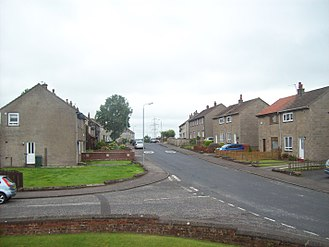 Council house - A mixture of Council and ex-Council housing (through Right to Buy scheme) in Hurlford, East Ayrshire, Scotland