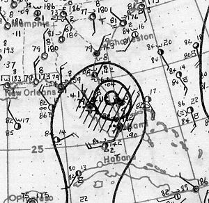 1928 Atlantic hurricane season - Image: Hurricane One Analysis 8 Aug 1928