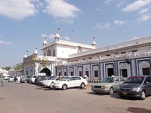 Hyderabad railway station outside.JPG
