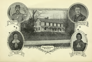 John Francis Hylan - Hylan's homestead, his parents and two photos of himself as child and young man. From his autobiography.