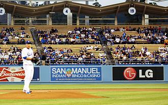 Hyun-jin Ryu - Ryu pitching at Dodger Stadium in April 2013.
