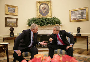Ivo Sanader - Sanader at a meeting with United States President George W. Bush at the White House in October 2006.