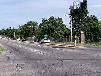 Iowa Highway 163 - Iowa 163 near the Iowa State Fairgrounds