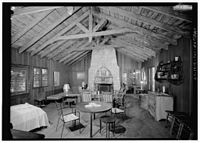 INTERIOR, VIEW OF FIREPLACE AT EAST END OF GREAT HALL FROM WEST048693pv.jpg