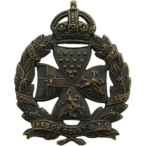 Inns of Court Regiment - Inns of Court OTC cap badge