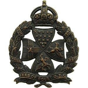 Inns of Court Regiment - Inns of Court OTC cap badge