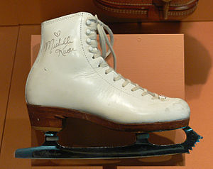 Ice skate, c. 1995, signed by Michelle Kwan (C...