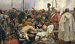 Ilja Jefimowitsh Repin - Reply of the Zaporozhian Cossacks - Yorck.jpg