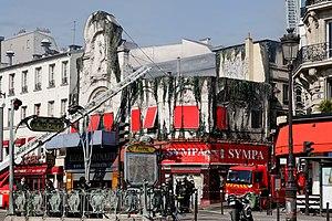 Élysée Montmartre - The Élysée Montmartre burning.