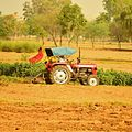 India farming with tractor rural agriculture Rajasthan 2015.jpg