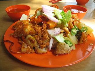 Malaysian Indian cuisine - Indian rojak in Malaysia.