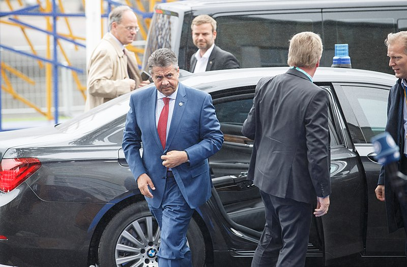File:Informal meeting of ministers for foreign affairs (Gymnich). Arrivals Sigmar Gabriel (36911948462).jpg