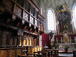 Hofkirche, Innsbruck - Choirstalls and altar