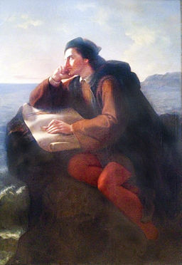 Inspiracion de Cristobal Colon by Jose Maria Obregon, 1856